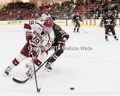 Jimmy Vesey (Harvard - 19) - The Harvard University Crimson defeated the visiting Brown University Brown Bears 5-2 (EN) on Saturday, November 7, 2015, at Bright-Landry Center in Boston, Massachusetts.
