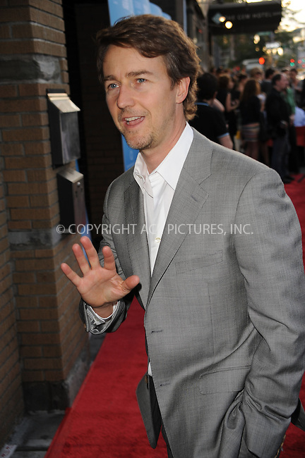 WWW.ACEPIXS.COM . . . . . ....June 30 2010, New York City....Actor Edward Norton arriving at the premiere of the 'Kids Are All Right' at Landmark's Sunshine Cinema on June 30, 2010 in New York City....Please byline: KRISTIN CALLAHAN - ACEPIXS.COM.. . . . . . ..Ace Pictures, Inc:  ..(212) 243-8787 or (646) 679 0430..e-mail: picturedesk@acepixs.com..web: http://www.acepixs.com