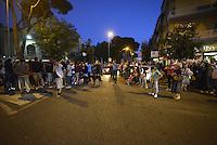 Roma 17 Settembre 2013<br /> Piazza Cesare De Cupis<br /> Il Sindaco di Roma Ignazio Marino visita il quartiereTor Sapienza.<br /> Nella foto cittadini in attesa dell'arrivo