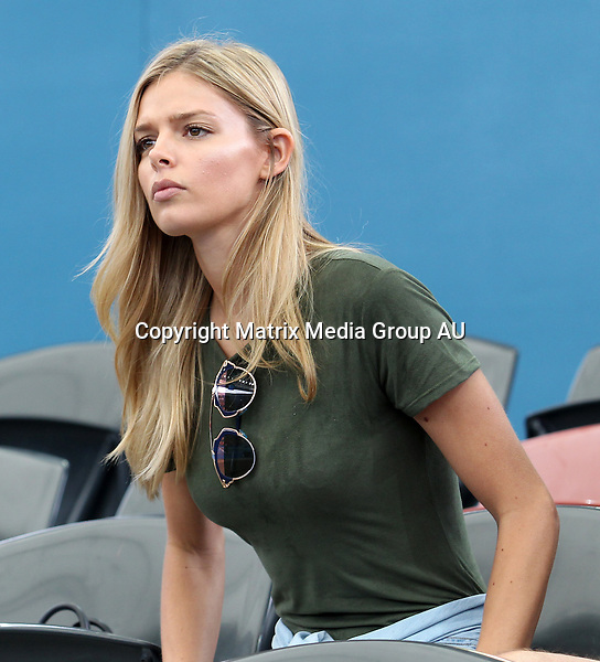 8 JANUARY 2016 BRISBANE AUSTRALIA<br /> <br /> NON EXCLUSIVE <br /> <br /> Danielle Knudson was seen at the Brisbane International tennis tournament to support her partner, Canadian Milos Raonic who was playing against Franchman Lucas Rouille..