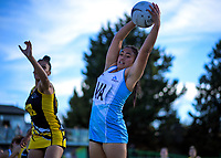 Action from the 2018 Netball NZ National Under-17 Championship final between Auckland 1 and Wellington A Black at Vautier Park in Palmerston North, New Zealand on Thursday, 19 July 2018. Photo: Dave Lintott / lintottphoto.co.nz