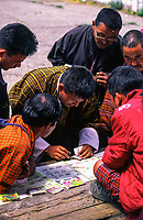 Asia, Buthan, Bunthang, selling lottery tickets