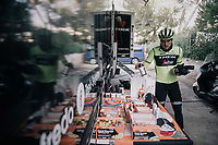 John DEGENKOLB (DEU/Trek-Segafredo) grabbing the necessary nutrition for a long training ride<br /> <br /> Team Trek-Segafredo men's team<br /> training camp<br /> Mallorca, january 2019<br /> <br /> ©kramon