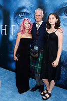 "LOS ANGELES - JUL 12:  Girlfriend, Alan Taylor, daughter at the ""Game of Thrones"" Season 7 Premiere Screening at the Walt Disney Concert Hall on July 12, 2017 in Los Angeles, CA"