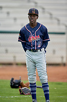 Edwin Sano (5) of the Rocky Mountain Vibes before the game against the Ogden Raptors at Lindquist Field on July 4, 2019 in Ogden, Utah. The Raptors defeated the Vibes 4-2. (Stephen Smith/Four Seam Images)