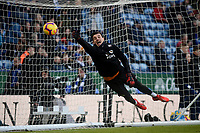 Leicester City's Danny Ward during the pre-match warm-up <br /> <br /> Photographer Hannah Fountain/CameraSport<br /> <br /> The Premier League - Leicester City v Manchester United - Sunday 3rd February 2019 - King Power Stadium - Leicester<br /> <br /> World Copyright © 2019 CameraSport. All rights reserved. 43 Linden Ave. Countesthorpe. Leicester. England. LE8 5PG - Tel: +44 (0) 116 277 4147 - admin@camerasport.com - www.camerasport.com