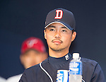 Oh Jae-won, Mar 28, 2016 : South Korean baseball team Doosan Bears' infielder Oh Jae-won attends a media day and fanfest of 10 clubs in the Korea Baseball Organization (KBO) in Seoul, South Korea. (Photo by Lee Jae-Won/AFLO) (SOUTH KOREA)