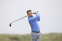Geoff Lenehan (Portmarnock) on the 9th tee during Round 1 of The East of Ireland Amateur Open Championship in Co. Louth Golf Club, Baltray on Saturday 1st June 2019.<br /> <br /> Picture:  Thos Caffrey / www.golffile.ie<br /> <br /> All photos usage must carry mandatory copyright credit (© Golffile | Thos Caffrey)