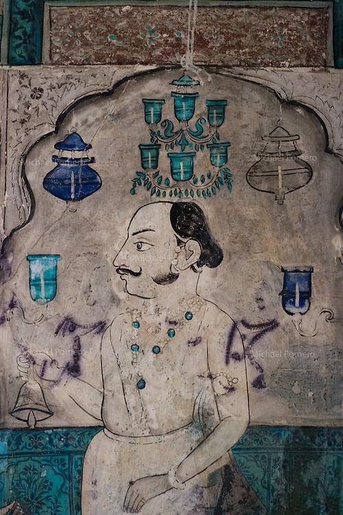 23.11.2010 Bundi (palace)<br /> <br /> Old paintings of the Chitrasala<br /> <br /> Vieilles peintures du Chitrasala.