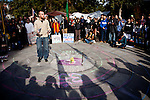 UC Davis grad student Cody Ross speaks at an Occupy UC Davis general assembly on the Quad, November 28, 2011.
