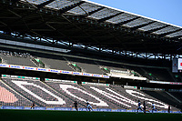 A general view of Stadium MK, home of Milton Keynes Dons showing an empty stadium<br /> <br /> Photographer Chris Vaughan/CameraSport<br /> <br /> The EFL Sky Bet League One - Milton Keynes Dons v Lincoln City - Saturday 19th September 2020 - Stadium MK - Milton Keynes<br /> <br /> World Copyright © 2020 CameraSport. All rights reserved. 43 Linden Ave. Countesthorpe. Leicester. England. LE8 5PG - Tel: +44 (0) 116 277 4147 - admin@camerasport.com - www.camerasport.com