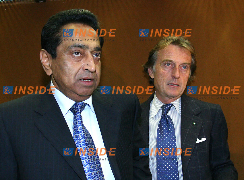 Roma, 06/11/2006 Confindustria, Italy-India Business Summit. Nella foto Kamal Nath, Ministro Indiano degli Affari Internazionali e Luca Cordero di Montezemolo, Presidente di Confindustria.<br /> Photo Samantha Zucchi Inside (www.insidefoto.com)<br /> Italy-india Business Summit. In the picture Kamal Nath, Indian Mininster of International Trade and Luca Cordero di Montezemolo, President of Confindustria. Roma, October, 06, 2006.