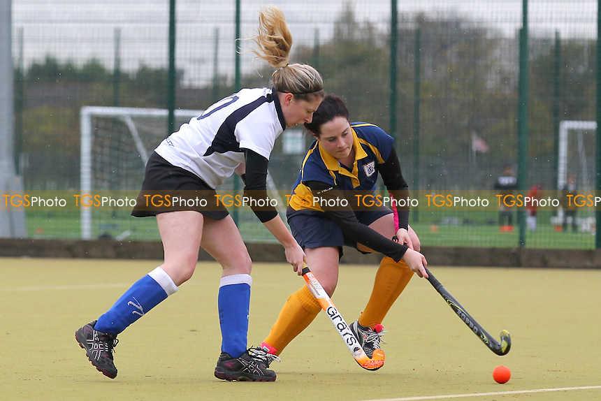 Romford HC Ladies vs Southend HC Ladies, Essex Hockey League at the Robert Clack Leisure Centre, Dagenham, England on 14/11/2015