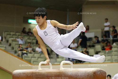 Yuki Sato (), <br /> AUGUST 21, 2017 - Artistic Gymnastics : <br /> 48th All Japan Junior High School Championships <br /> Men's Individual All-Around <br /> Pommel Horse <br /> at Kitakyushu City General Gymnasium, Fukuoka, Japan. <br /> (Photo by YUTAKA/AFLO)