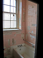 Abandoned dormitory shower in catholic schoolhouse in downtown Vicksburg Mississippi