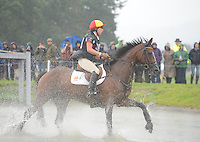 Blair Atholl, Scotland, UK. 12th September, 2015. Longines  FEI European Eventing Championships 2015, Blair Castle. Cristina Pinedo Sendagorta (ESP) riding Helena XII during the Cross country phase © Julie Priestley