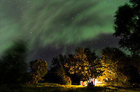 An impressive aurora display that featured a brilliant night sky with the dancing in every direction. Marquette, MI