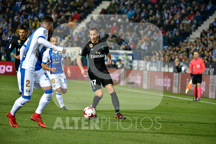 Leganes vs Real Madrid Lucas Vazquez during Copa del Rey  match. A quarter of final go. 20180118.
