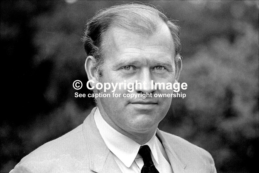William Doyle, magistrate, Belfast, N Ireland, UK, 197008000329b. Doyle, by then a judge, was murdered in 1983 by the Provisional IRA. The fact that he was a Roman Catholic member of the judiciary may actually have increased his liklihood as a terrorist target.<br /> <br /> Copyright Image from Victor Patterson, 54 Dorchester Park, Belfast, UK, BT9 6RJ<br /> <br /> t1: +44 28 9066 1296 (from Rep of Ireland 048 9066 1296)<br /> t2: +44 28 9002 2446 (from Rep of Ireland 048 9002 2446)<br /> m: +44 7802 353836<br /> <br /> e1: victorpatterson@me.com<br /> e2: victorpatterson@gmail.com<br /> <br /> The use of my copyright images is subject to my Terms &amp; Conditions.<br /> <br /> It is IMPORTANT that you familiarise yourself with them. They are available on my website at www.victorpatterson.com.<br /> <br /> None of my copyright images may be used on a website unless they are visibly watermarked, i.e. &copy; Victor Patterson within the body of the visible image. Metadata denoting my copyright must NOT be deleted. <br /> <br /> Web use is extra at currently recommended NUJ rates.