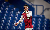 Xavier Amaechi of Arsenal U18 celebrates scoring his goal 1-0 during the FA Youth Cup FINAL 1st leg match between Chelsea U18 and Arsenal U18 at Stamford Bridge, London, England on 27 April 2018. Photo by Andy Rowland.
