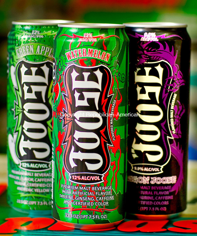 WATERBURY, CT- 22 July 2010-072210BF02-- Police said Francisco Cruz ,19, purchased several cans of the alcoholic beverage Joose, similar to these, before raping and killing Chloe Ottman, 16, near the cross at Waterbury's Holy Land. Bob Falcetti Republican-American