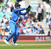June 18th 2017, The Kia Oval, London, England;  ICC Champions Trophy Cricket Final; India versus Pakistan; Mahendra Singh Dhoni of India