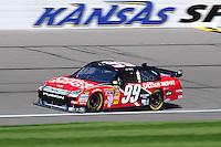 Sept. 27, 2008; Kansas City, KS, USA; Nascar Sprint Cup Series driver Carl Edwards during practice for the Camping World RV 400 at Kansas Speedway. Mandatory Credit: Mark J. Rebilas-