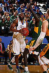 BROOKINGS, SD - DECEMBER 28:  Tevin King #2 from South Dakota State takes the ball to the basket past Deng Geu #23 from North Dakota State during their game Wednesday night at Frost Arena in Brookings. (Dave Eggen/Inertia)