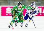 Stockholm 2015-03-14 Bandy Bronsmatch Hammarby IF - Villa Lidk&ouml;ping BK :  <br /> Hammarbys Ulf Einarsson i kamp om bollen med Villa Lidk&ouml;pings Petter Bj&ouml;rling under matchen mellan Hammarby IF och Villa Lidk&ouml;ping BK <br /> (Foto: Kenta J&ouml;nsson) Nyckelord:  Tele2 Arena SM Brons Bronsmatch Tredjepris herr herrar Hammarby HIF Bajen Villa Lidk&ouml;ping VLBK