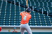 Alex Boortz (4) of Casa Roble Fundamental High School in Orangevale, California during the Baseball Factory All-America Pre-Season Tournament, powered by Under Armour, on January 13, 2018 at Sloan Park Complex in Mesa, Arizona.  (Freek Bouw/Four Seam Images)