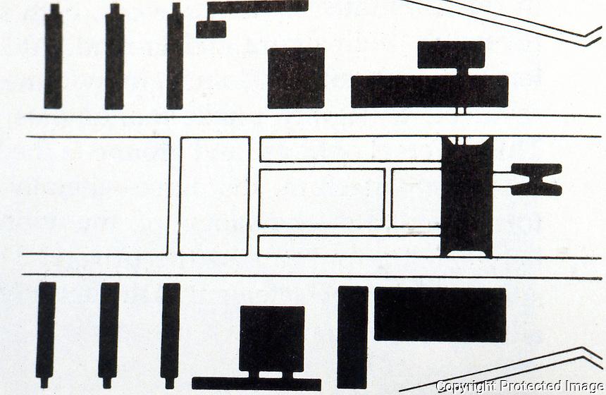 Brasilia:  The Modernist City-- Monumental axis, same scale as Ouro Preto.  James Holston, MODERNIST CITY, p. 134.