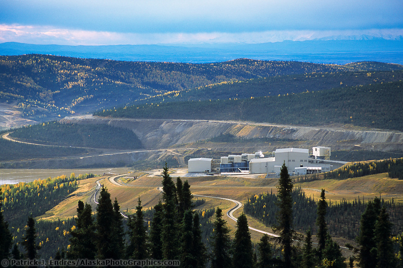 Fort Knox open pit gold mine, north of Fairbanks, Alaska on the Steese Highway.