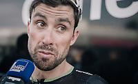 Bernhard 'Bernie' Eisel (AUT/Dimension Data) interviewed post-race<br /> <br /> 104th Tour de France 2017<br /> Stage 19 - Embrun &rsaquo; Salon-de-Provence (220km)