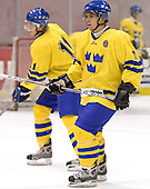Anton Axelsson (Frolunda HC - Detroit Red Wings), Nicklas Bergfors (Sodertalje SK - New Jersey Devils)   The US Blue team lost to Sweden 3-2 in a shootout as part of the 2005 Summer Hockey Challenge at the National Junior (U-20) Evaluation Camp in the 1980 rink at Lake Placid, NY on Saturday, August 13, 2005.