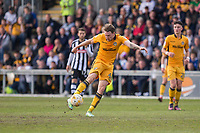 Ryan Bird of Newport County shoots at goal during the Sky Bet League 2 match between Newport County and Notts County at Rodney Parade, Newport, Wales on 6 May 2017. Photo by Mark  Hawkins / PRiME Media Images.