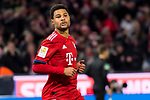 09.02.2019, Allianz Arena, Muenchen, GER, 1.FBL,  FC Bayern Muenchen vs. FC Schalke 04, DFL regulations prohibit any use of photographs as image sequences and/or quasi-video, im Bild Jubel nach dem Tor zum 3-1 durch Serge Gnabry (FCB #22) <br /> <br />  Foto &copy; nordphoto / Straubmeier