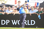 Padraig Harrington tees off on the 1st tee during  Day 3 at the Dubai World Championship Golf in Jumeirah, Earth Course, Golf Estates, Dubai  UAE, 21st November 2009 (Photo by Eoin Clarke/GOLFFILE)