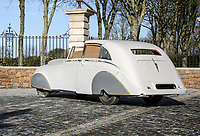 BNPS.co.uk (01202 558833)<br /> Pic: Historics/BNPS<br /> <br /> You can't buy taste -  - An eccentric billionaires flight of fancy Rolls Royce creation is coming up for auction.<br /> <br /> Armenian oil magnate Nubar Gulbenkian's personal design was so wacky that Rolls Royce refused to build the car for him, and he had to commission coachbuilders Hoopers of London<br /> to make his sketches into reality.<br /> <br /> Known for his crazy, off the cuff nature, Gulbenkian, who was one of the world's richest men at the time, would regularly pen sketches of strange-looking vehicles before having them made for real.<br /> <br /> Estimated at £30,000, the unique survivor in partly restored state is now waiting for a new owner with deep pockets to bring the one off motor back to life.