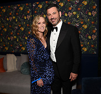 """ABC, DISNEY TV STUDIOS, FX, HULU, & NATIONAL GEOGRAPHIC 2019 EMMY AWARDS NOMINEE PARTY: President, ABC Entertainment Karey Burke and Jimmy Kimmel attends the """"ABC, Disney TV Studios, FX, Hulu & National Geographic 2019 Emmy Awards Nominee Party"""" at Otium on September 22, 2019 in Los Angeles, California. (Photo by PictureGroup/Walt Disney Television)"""