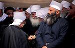 Israel, Galilee, Druze elders in Julis