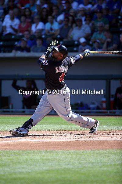 Carlos Santana - Cleveland Indians 2016 spring training (Bill Mitchell)