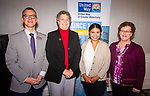 WATERBURY,  CT-102319JS02-  David Morgan, President and CEO of TEAM, Inc. of Waterbury, with Beth Bye, Commissioner of the Office of Early Childhood; Anna White Program Manager, Early Childhood Success for the National League of Cities and Paula Connolly a United Way volunteer, at the United Way of Greater Waterbury's 45th annual meeting held Wednesday at the Country Club of Waterbury. <br /> Jim Shannon Republican-American