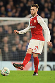 10th January 2018, Stamford Bridge, London, England; Carabao Cup football, semi final, 1st leg, Chelsea versus Arsenal; Calum Chambers of Arsenal