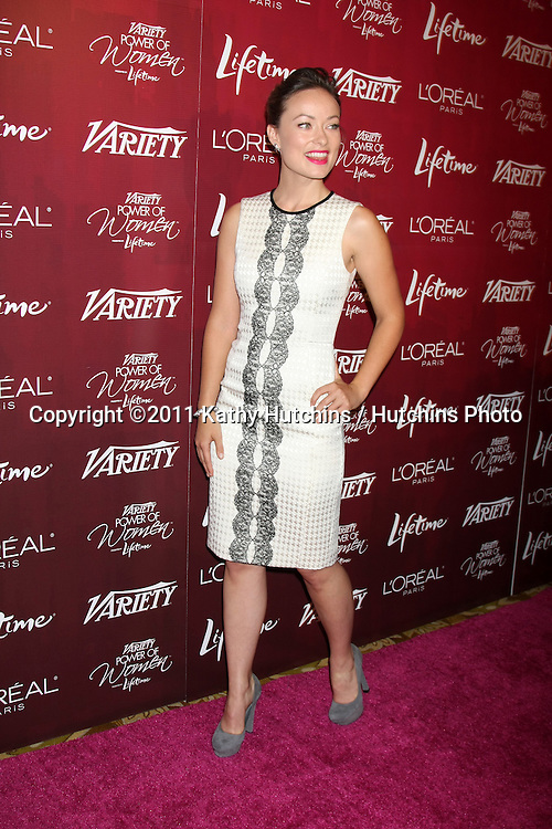 LOS ANGELES - SEPT 23:  Olivia Wilde arriving at the Variety's Power of Women Luncheon at Beverly Wilshire Hotel on September 23, 2011 in Beverly Hills, CA