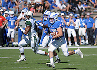October 22, 2016 - Colorado Springs, Colorado, U.S. -   Air Force wide running back, Tim McVey #33, makes a long gain during the NCAA Football game between the University of Hawaii Rainbow Warriors and the Air Force Academy Falcons, Falcon Stadium, U.S. Air Force Academy, Colorado Springs, Colorado.  Hawaii defeats Air Force in double overtime 43-27.