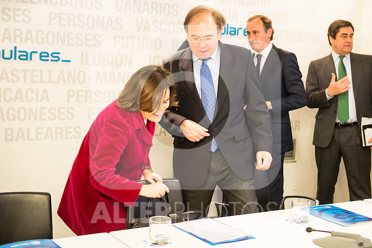 Soraya Saenz de Santamaria during the meeting with the national executive committee of Partido Popular at Genova in Madrid. May 03, 2016. (ALTERPHOTOS/Borja B.Hojas)