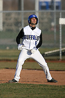 April 5, 2009:  Pinch Runner Bobby Pizzuto (8) of the University of Buffalo Bulls during a game at Amherst Audubon Field in Buffalo, NY.  Photo by:  Mike Janes/Four Seam Images