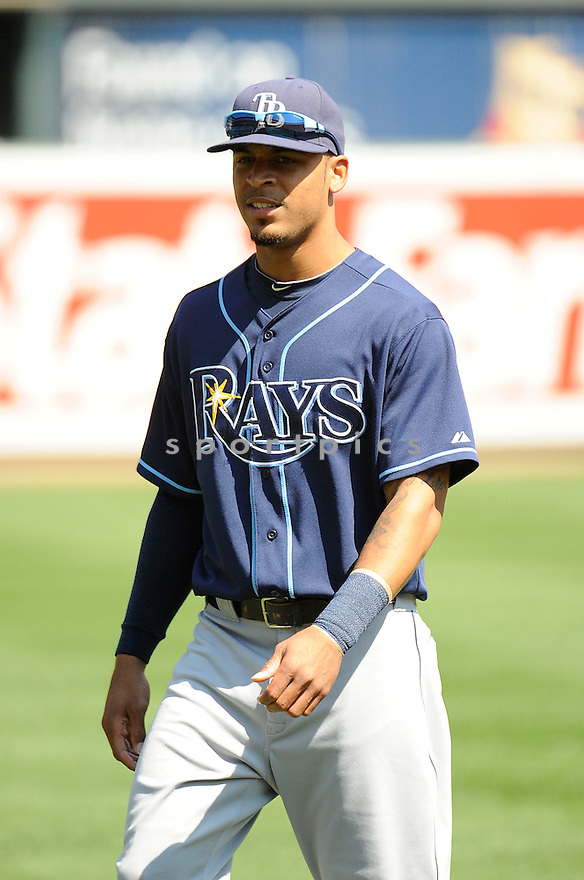 Tampa Bay Rays Desmond Jennings (8) during a game against the  Baltimore Orioles on September 13, 2012 at Oriole Park in Baltimore, MD. The Orioles beat the Rays 4-3 in 14 innings.