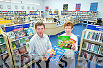 Eamon Browne and Eileen Murphy of Castleisland Library.