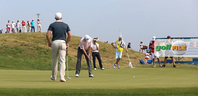 David Howell (ENG) takes the early lead but settles on level par during Round One of the 2015 Alstom Open de France, played at Le Golf National, Saint-Quentin-En-Yvelines, Paris, France. /02/07/2015/. Picture: Golffile | David Lloyd<br /> <br /> All photos usage must carry mandatory copyright credit (&copy; Golffile | David Lloyd)